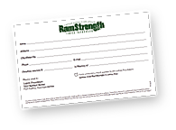 Donation Card for RamStrength